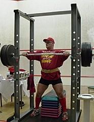 Knäböj i ett squat stand
